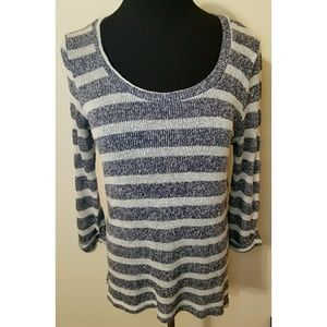 Sparkle & Fade striped woven top